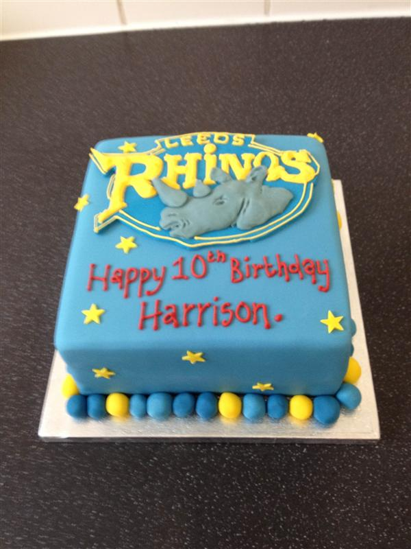 Leeds Rhinos Cake - Ronnie Rhino Personalised Birthday ...