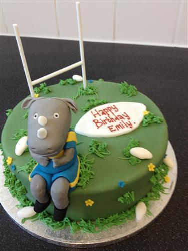 Birthday Cake For Ronnie : Leeds Rhinos Cake - Ronnie Rhino Personalised Birthday ...
